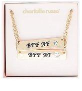 Charlotte Russe BFF AF Pendant Necklace - 2 Pack
