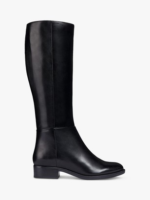 Geox Women's Felicity Leather Heeled Knee High Boots