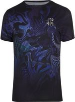 River Island Mens Big and Tall Blue psychedelic T-shirt
