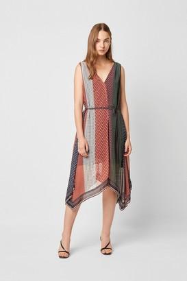 French Connection Caprice Mix Hankerchief Hem Dress