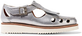 Grenson Ethel metallic textured-leather loafers