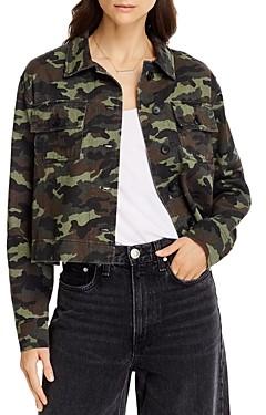 Aqua Cotton Cropped Camo Print Jacket - 100% Exclusive