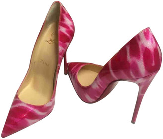 Christian Louboutin So Kate Pink Patent leather Heels