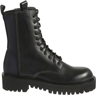 Valentino Side Zip Combat Boots