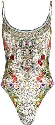 Camilla Embellished Floral One-Piece Swimsuit