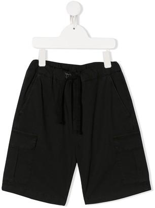 Paolo Pecora Kids Plain Cargo Shorts
