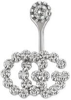 Gucci Single GG Running earring with diamonds