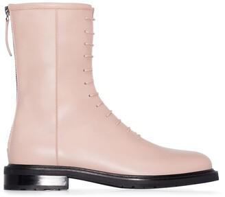 LEGRES Combat lace-up boots