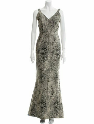 J. Mendel Printed Long Dress