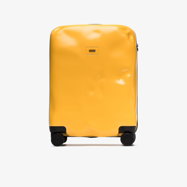 CRASH BAGGAGE yellow Icon rolling cabin suitcase