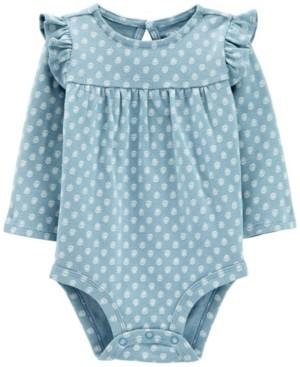 Carter's Baby Girl Ruffle Long-Sleeve Bodysuit