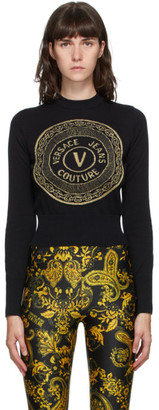 Versace Black and Gold New Buttons Sweater