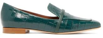 Malone Souliers Jane Crocodile-effect Leather Loafers - Womens - Green