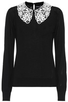 Dolce & Gabbana Lace-trimmed wool sweater