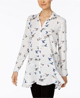 Chelsea and Theodore Floral-Print Tunic Shirt
