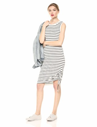 BB Dakota Womens What's The Ruche Stripe French Terry Ruched Dress