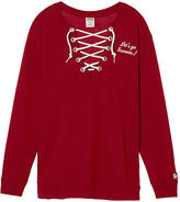 PINK University Of Oklahoma Lace-Up Campus Crew