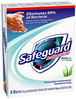 Safeguard Antibacterial Soap Bars, White with Aloe