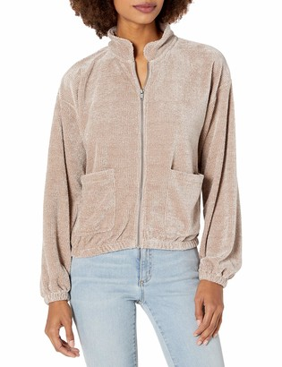 Cupcakes And Cashmere Women's mikalina chenile Knit Puff Sleeve Jacket