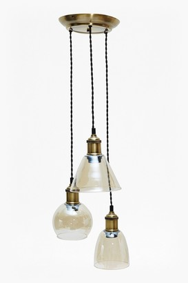 French Connection Brass Cluster Pendant