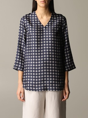 S Max Mara Finito Blouse In Patterned Silk