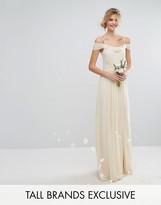TFNC Tall Wedding Cold Shoulder Embellished Maxi Dress