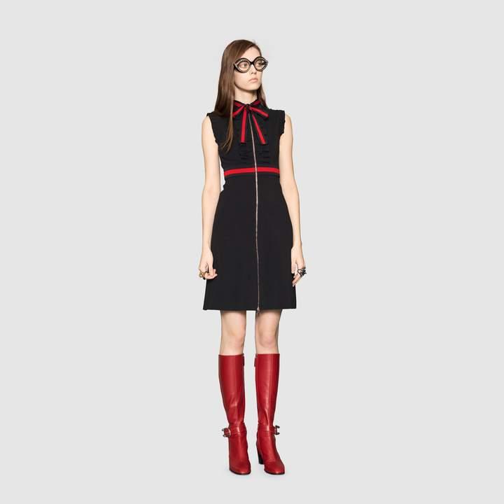 Gucci Jersey dress with Web trim