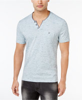 INC International Concepts Men's Split-Neck Slub T-Shirt, Only at Macy's