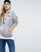 Le Coq Sportif Boyfriend Full Zip Hoodie With Tricolores Zip