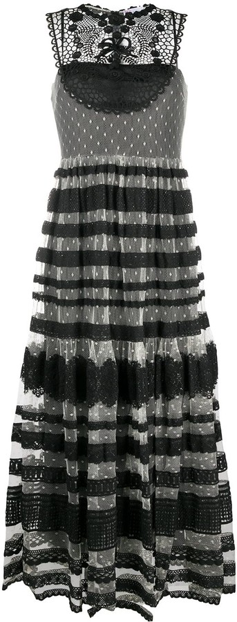 RED Valentino Guipure Lace Layer Dress