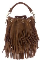 Saint Laurent Emmanuelle Fringed Bucket Bag