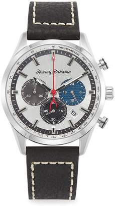 Tommy Bahama Stainless Steel & Leather-Strap Monterey Chronograph Watch