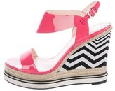 Nicholas Kirkwood Patent Leather Wedge Sandals