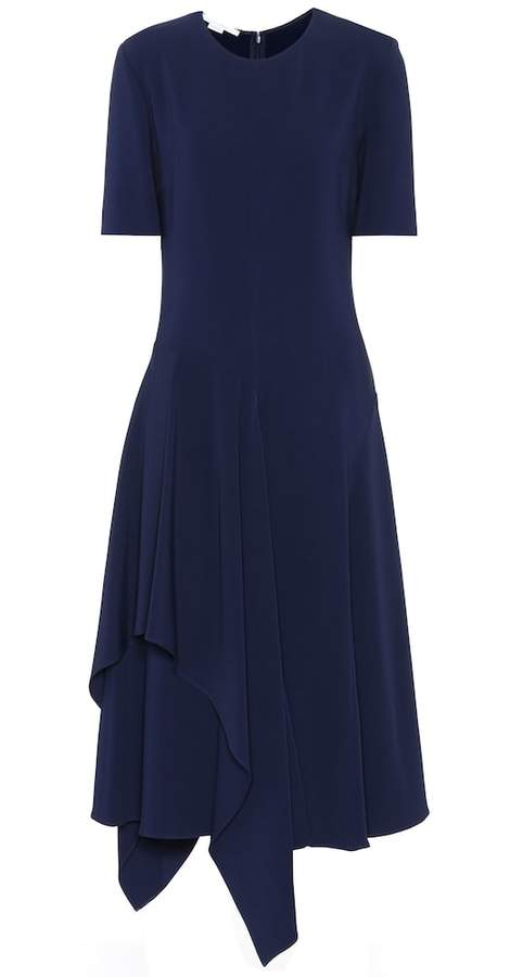 Stella McCartney Asymmetric crepe dress