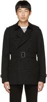 Burberry Black Sandringham Short Trench Coat