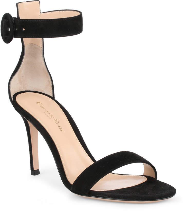 Gianvito Rossi Portofino 85 black suede sandal