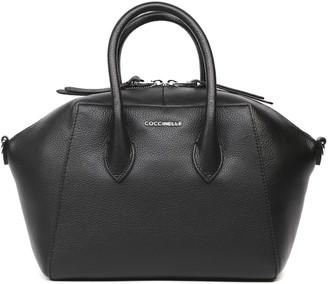 Coccinelle Gwen Medium Black Leather Bag