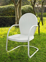 Crosley White Griffith Metal Chair
