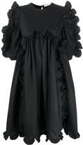 Ruffle-Trimmed Empire-Line Dress