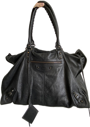 Balenciaga Weekender Black Leather Handbags
