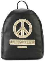 Love Moschino peace patch backpack