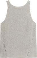 Enza Costa Pointelle-knit cotton-blend tank