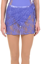 Danskin Dusted Periwinkle Lace Wrap Skirt - Women & Petite