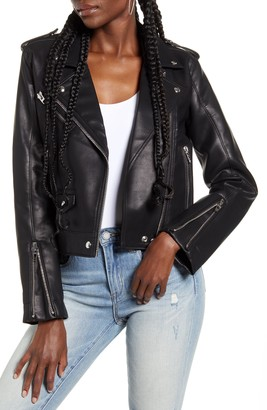 Blank NYC Semi-Fitted Faux Leather Moto Jacket