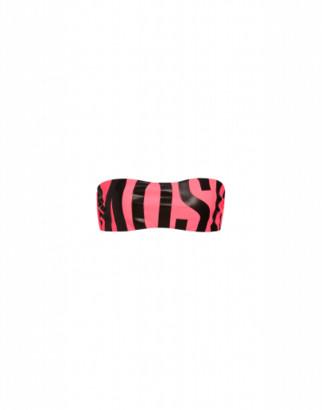 Moschino Maxi Logo Fluo Bikini Top Woman Pink Size 1 It - (4 Us)