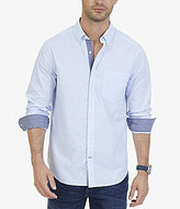 Nautica Classic Fit Striped Stretch Cotton Long-Sleeve Shirt
