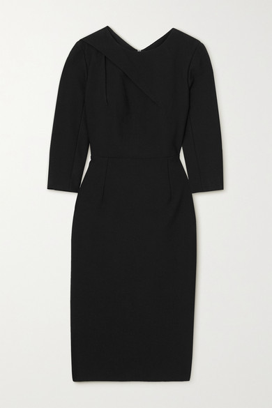 Thumbnail for your product : Roland Mouret Hisley Draped Crepe Dress - Black