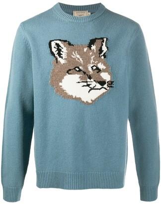 MAISON KITSUNÉ Animal Knit Wool Jumper