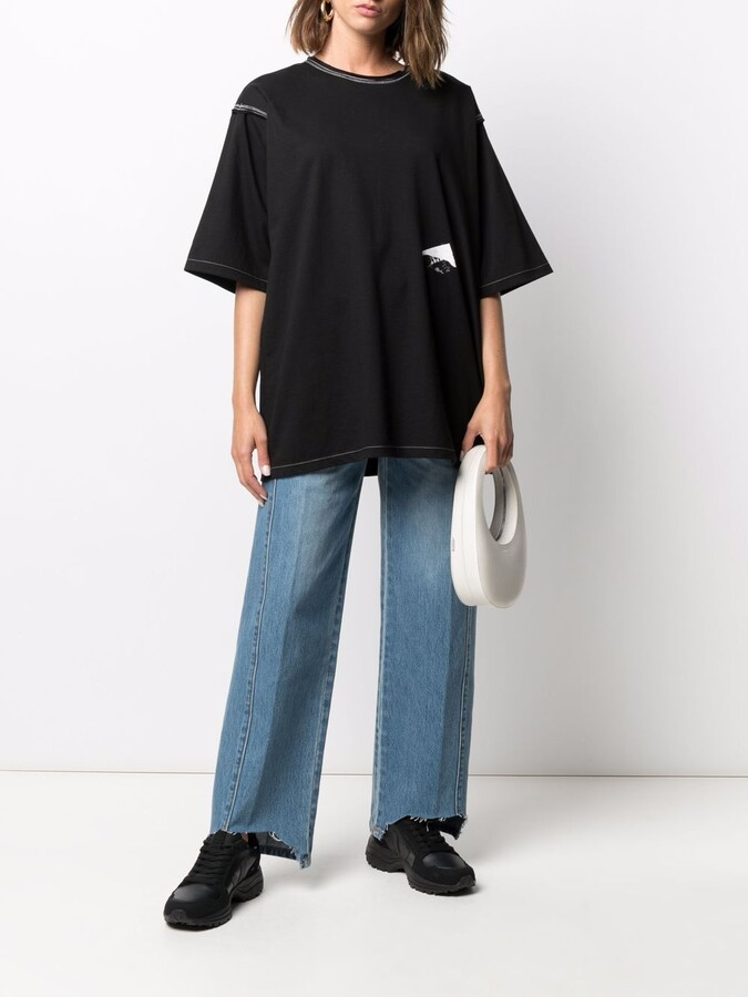 Thumbnail for your product : Ader Error logo-print oversized T-shirt