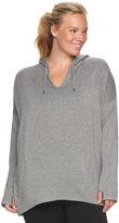 Gaiam Plus Size Mindful Hooded Fleece Top